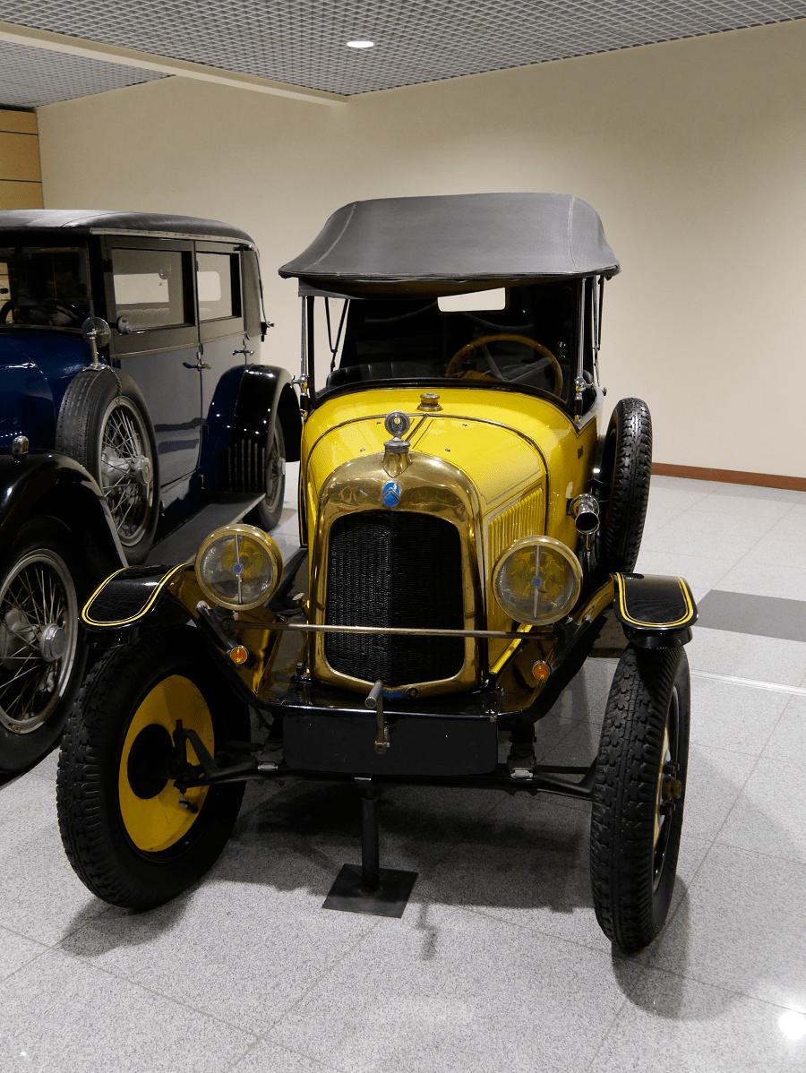"""Желтый Citroën Type C 5CV """"torpedo"""". Сделан в 1925"""