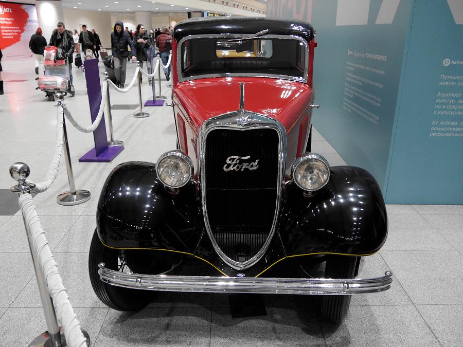 Ford Y de 1933. Couleur rouge