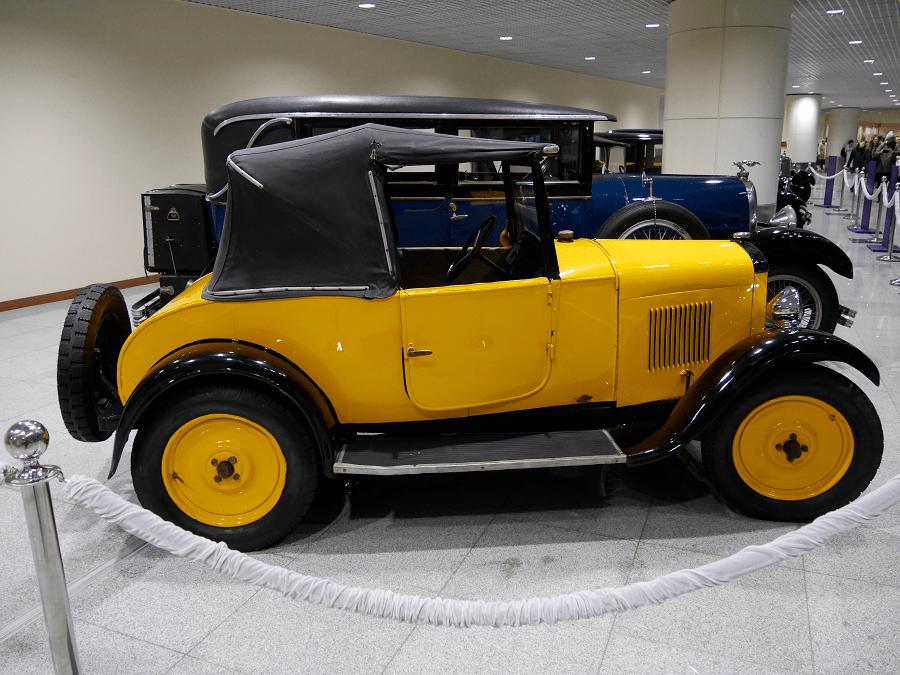Peugeot 5CV. Fabriqué en 1925. Couleur jaune