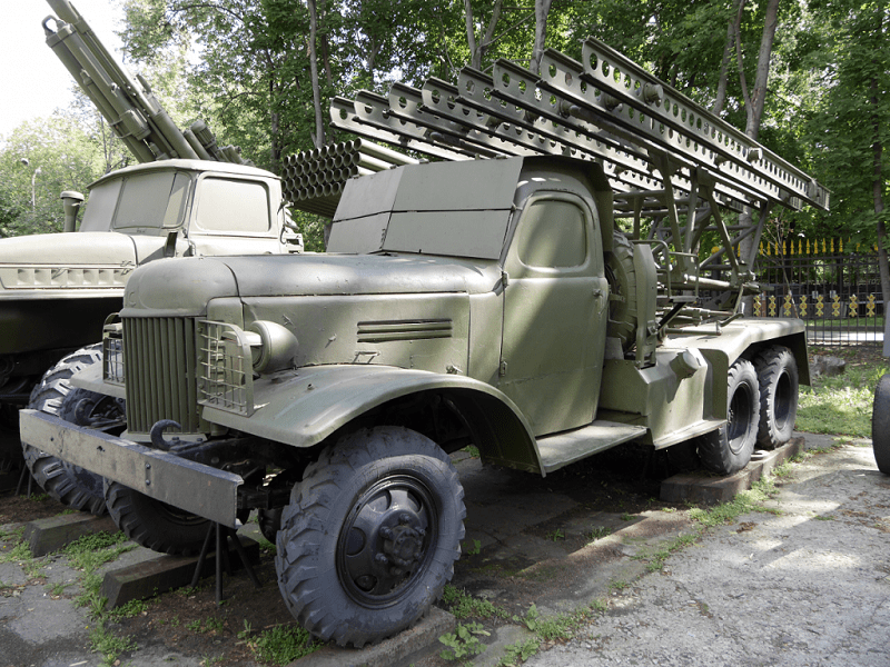 Artillery-of-the-USSR: the Katyusha multiple-rocket launcher is a type of rocket artillery first built and fielded by the Soviet Union in WW II