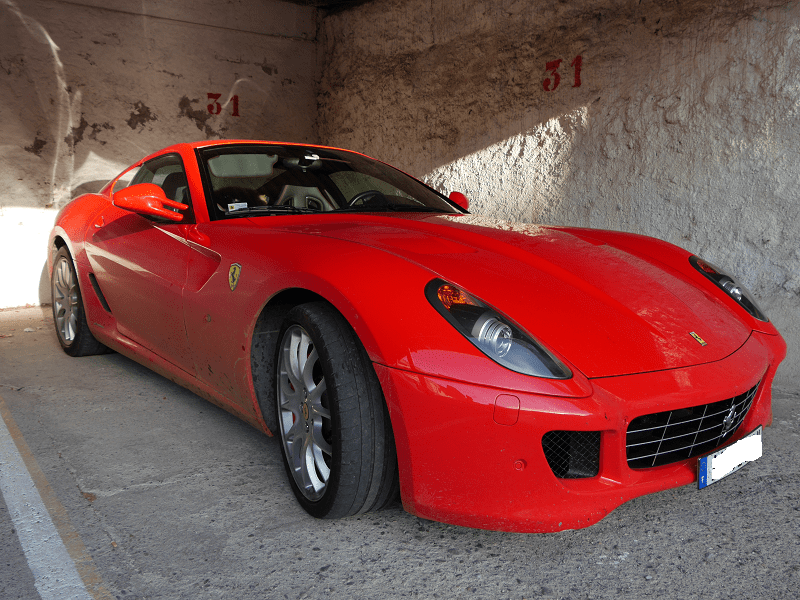Ferrari 599 GTB Fiorano. Red color