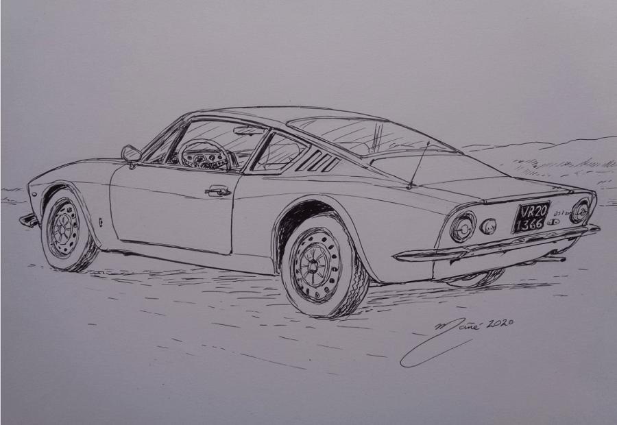 OSI-Ford 20 M TS. Marker pen drawing by Joan Mañé