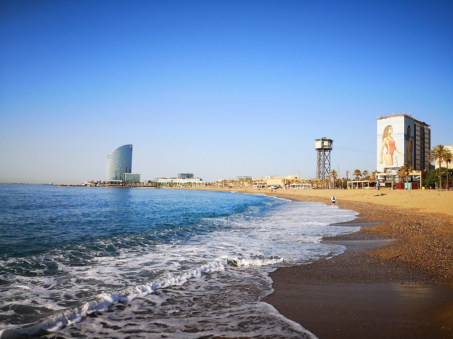 Barcelona has opened some of the city's beaches