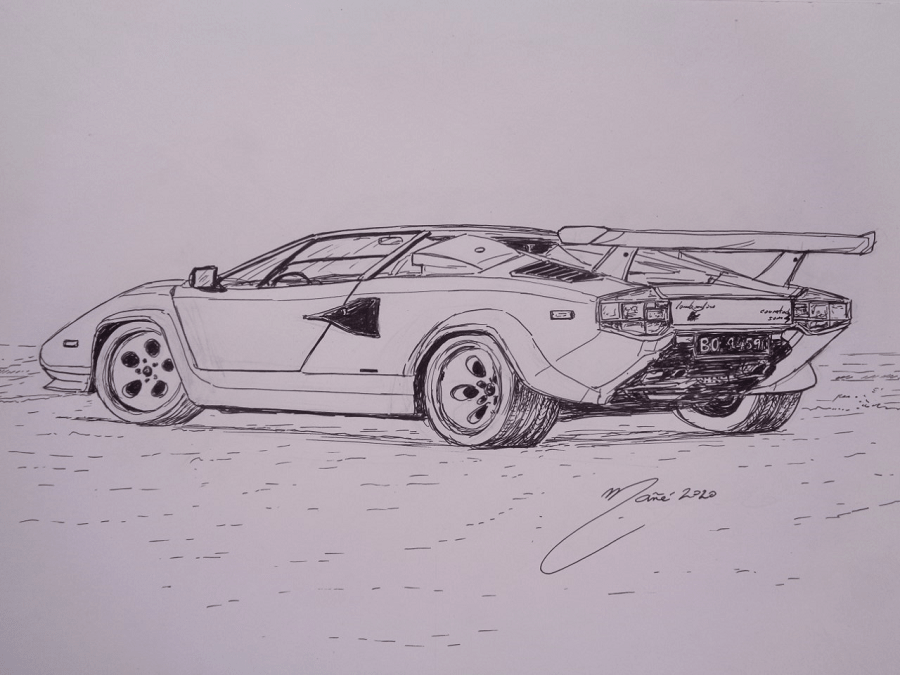 Lamborghini Countach back view