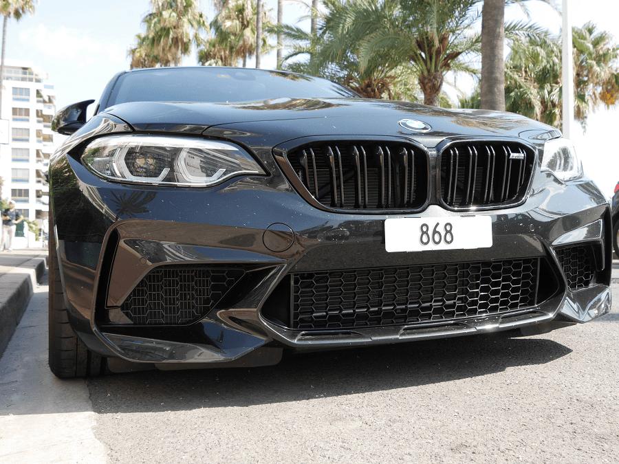 BMW M2. Черная версия в городе Канны 868