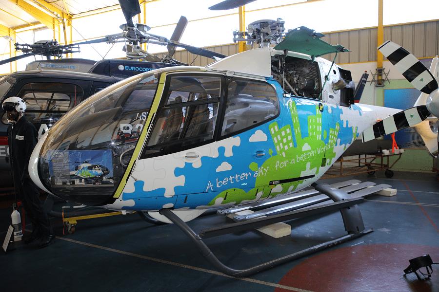 Eurocopter H EC120 Colibri : hélicoptère français_vue de cote