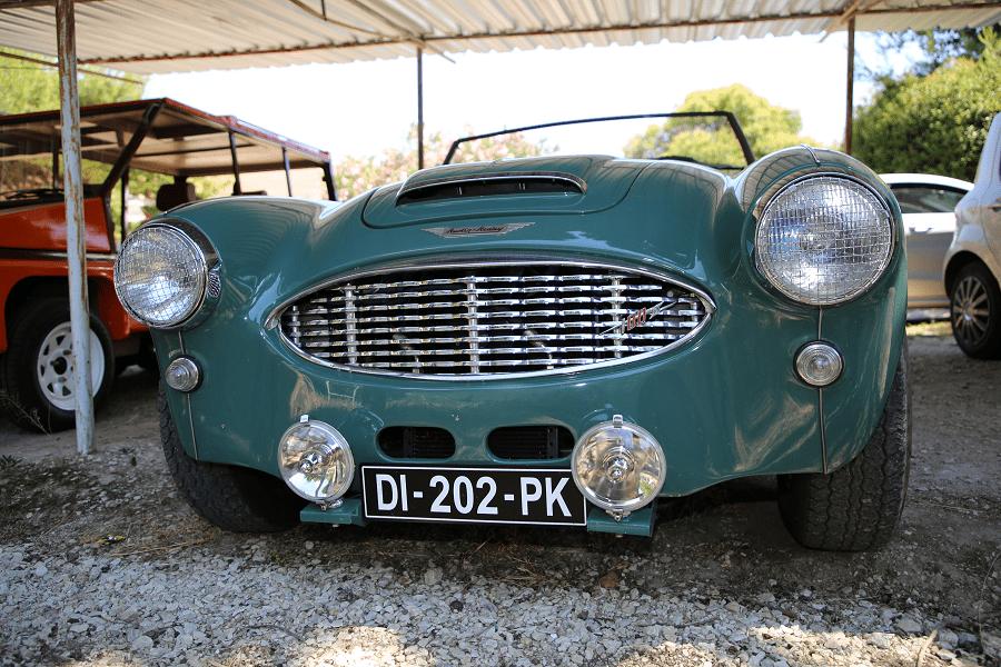 Austin Healey 100 1956 года. Зеленая версия_перед