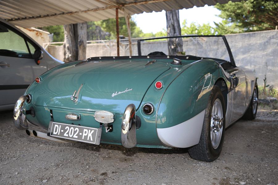 Austin Healey 100 1956 года. Зеленая версия_зад