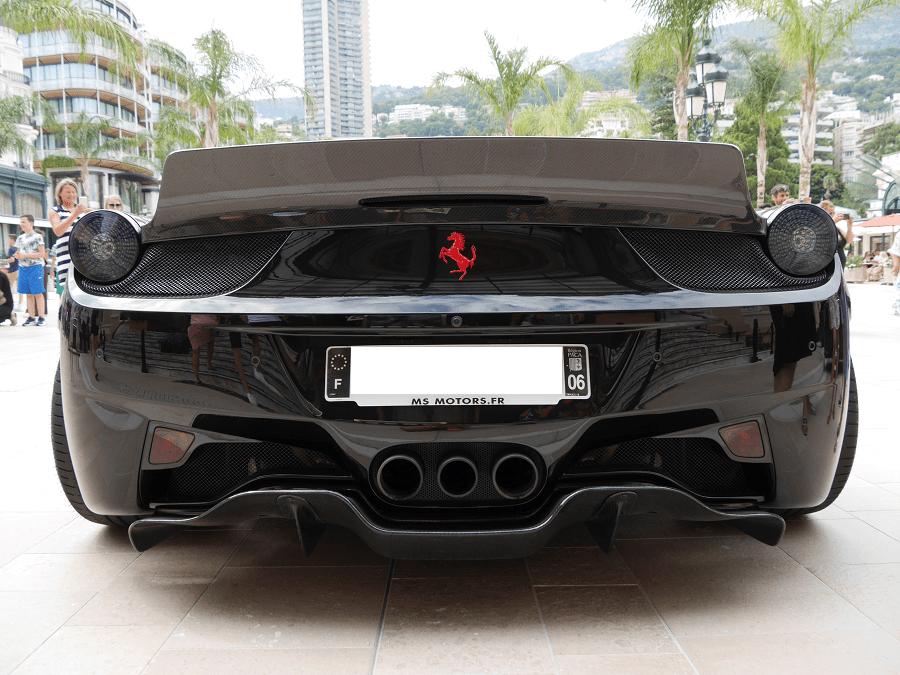 ferrari et jardins de monaco monte carlo LB-WORKS 458 Full Bumper complete body kit. Version noire automobiles voitures mystérieuses