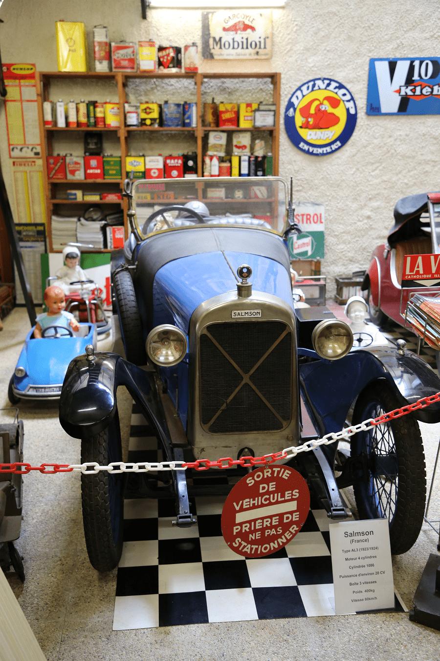 Синий Salmson Type AL3 образца 1924 года