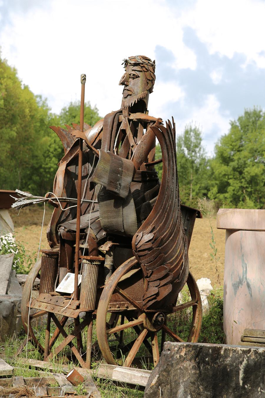 Кристиан Бо - скульптуры из металла, город Демю. Франция