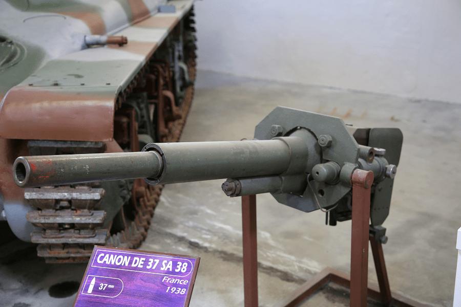 Французская пушка 37 SA 18 времен Первой мировой войны (1918 год)