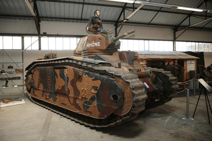 Renault B1 BIS - французский тяжелый боевой танк 1936 года