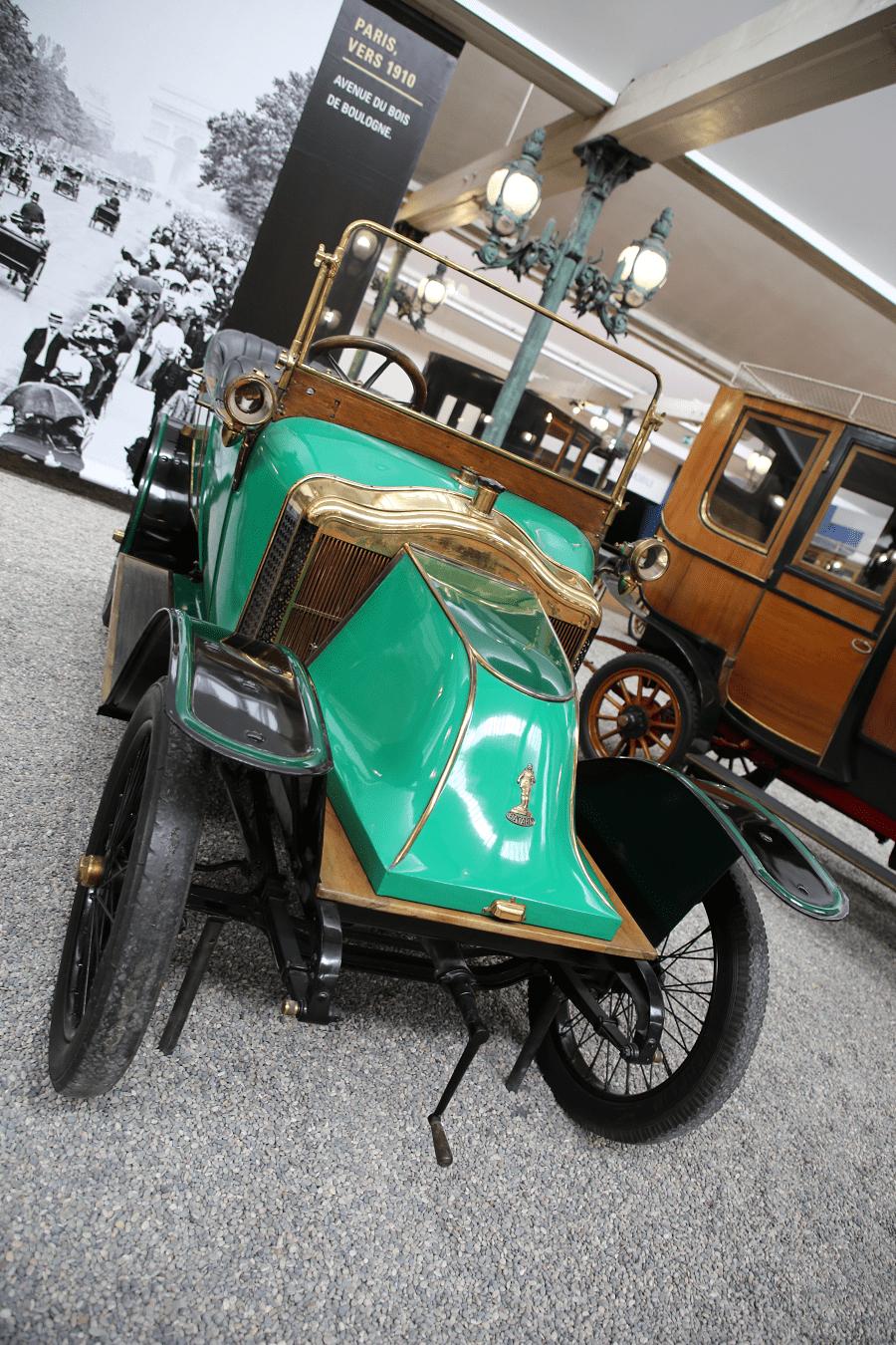 Clément-Bayard Torpédo Type 4 M3. Couleur verte_calandre_roue