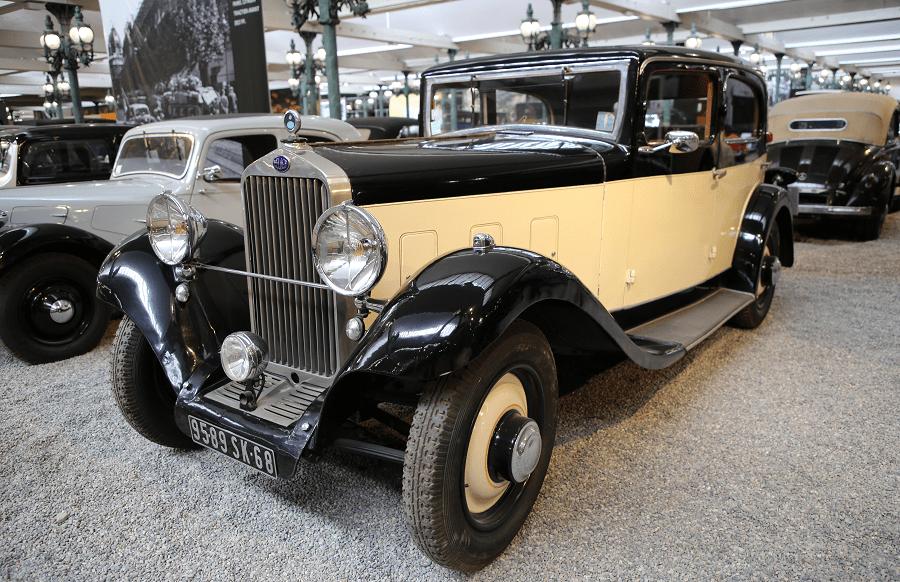 Французский Delage Berline Type D6-11 образца 1933 года