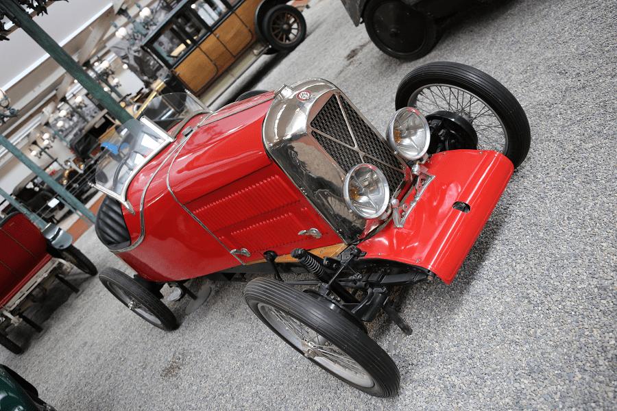 Красный Salmson Biplace Sport Type VAL 3 образца 1928 года