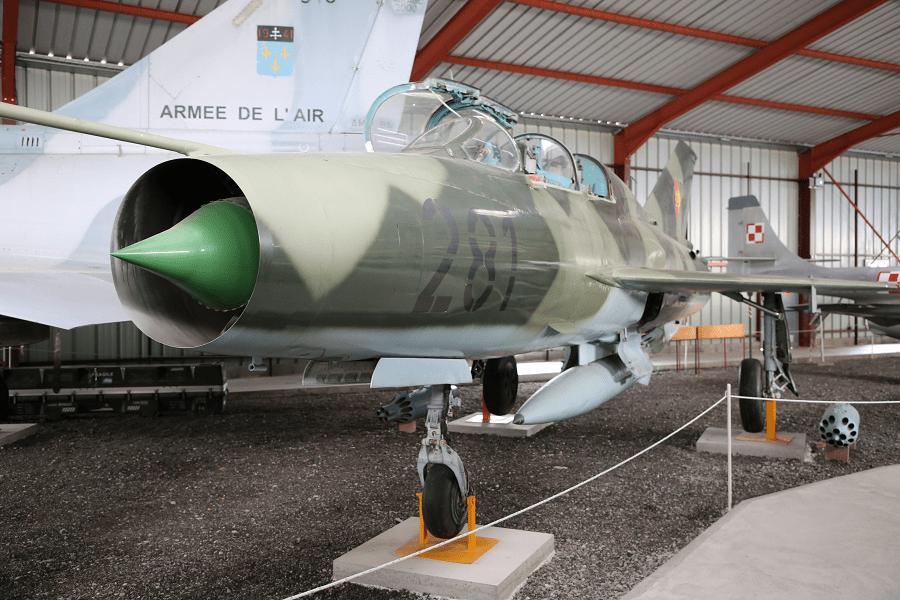Учебно-тренировочный двухместный истребитель МиГ-21УТИ Монгольских ВВС