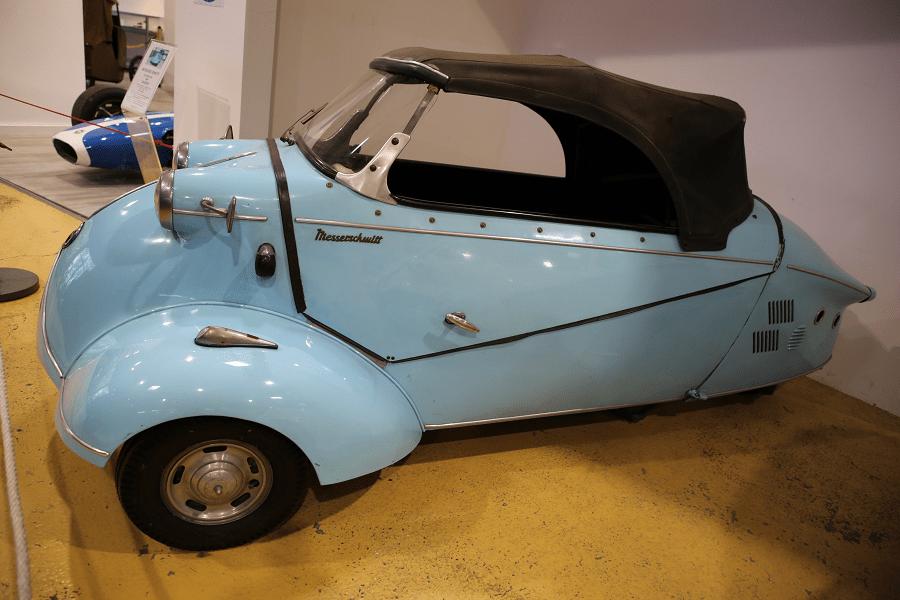 Синий Messerschmitt Type KR 201 образца 1958 года с двигателем Fichtel & Sachs