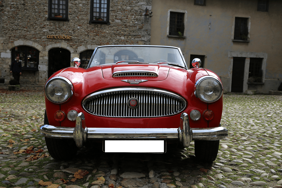 Austin-Healy 3000 Mk III. Couleur rouge_vehicules_transport_mythiques_rare