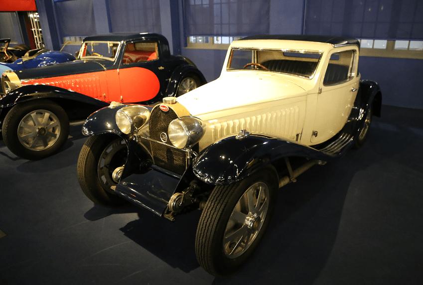 Белый Bugatti Coupe Type 55 SS (SuperSport) образца 1932 года