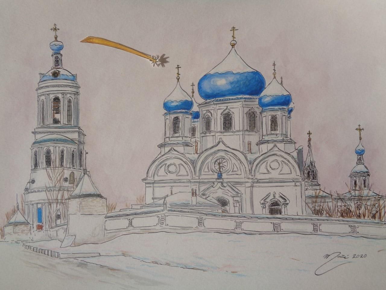 Рождество в Свято-Боголюбском монастыре, Россия