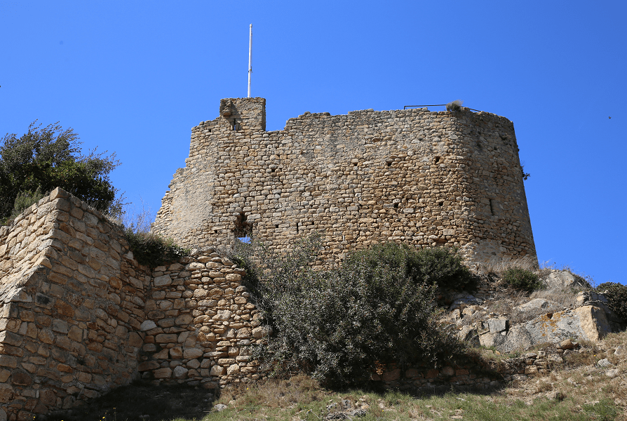 The Palafolls Castle - a strategic location to control the main road from Girona to Barcelona along the coast