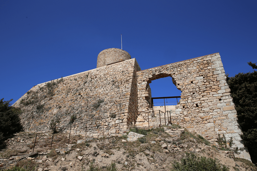 The Blanes castle of Sant Joan controls the sea raids of pirates